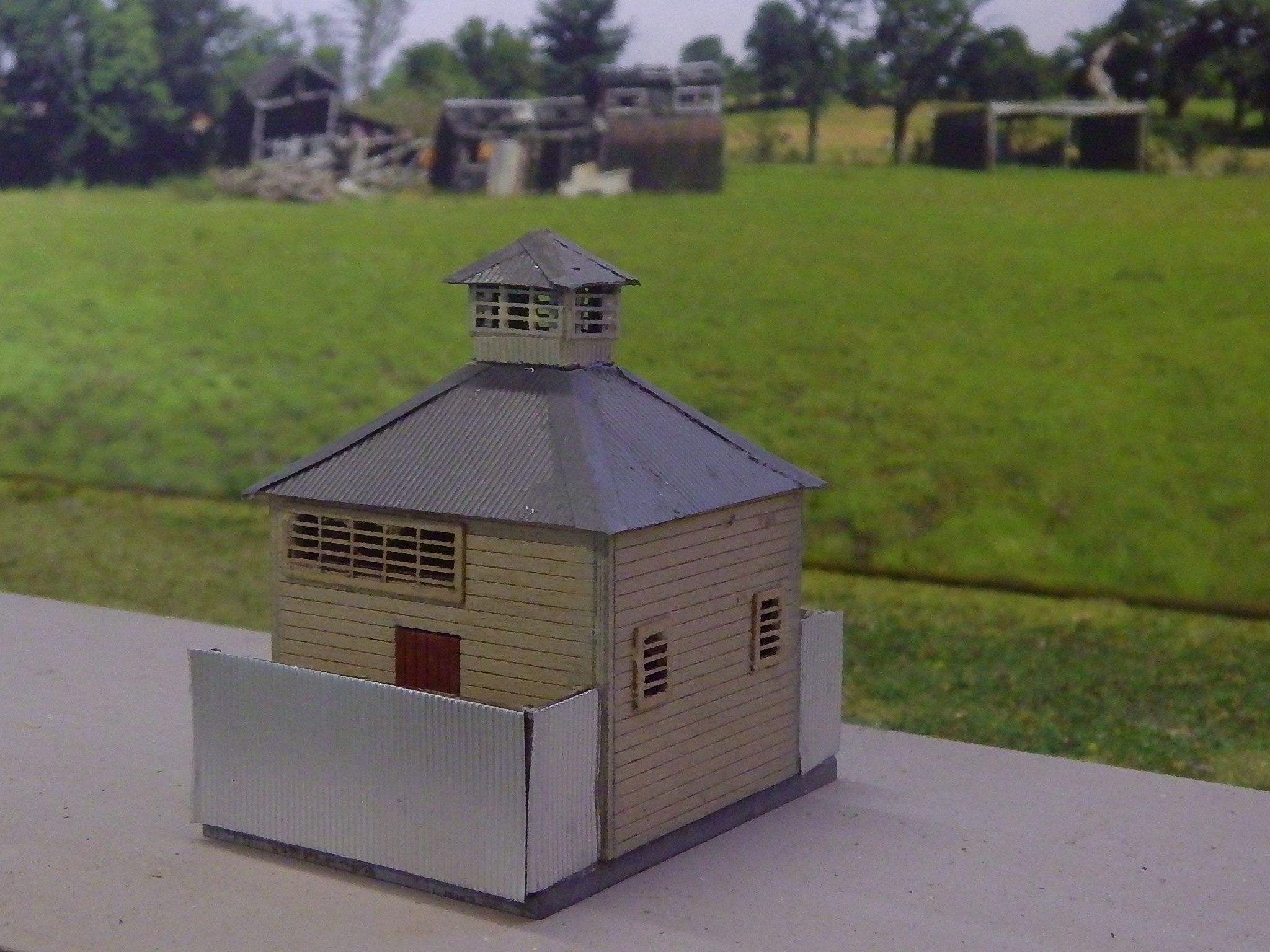 Ho scale building NSWGR Culcairn Toilet block